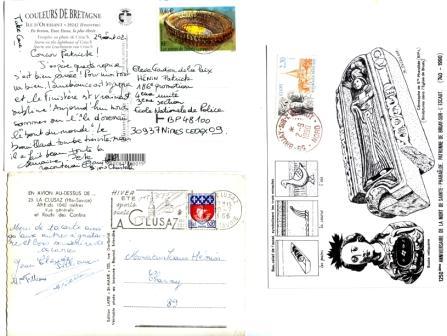 1er 3470 Arènes de Nîmes-2è 1354B Armoiries de Paris-3è 2657 Abbaye de Cluny