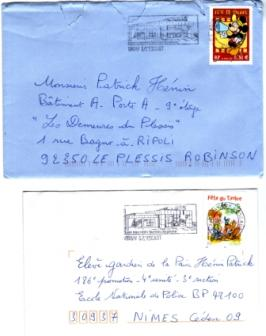 1er 3641 Fête du timbre Mickey-2è 3467 Boule et Bill
