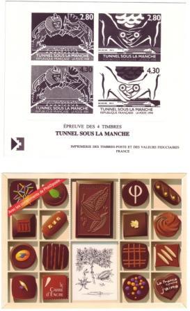 1er Tunnel sous la Manche-2è Plaquette chocolat