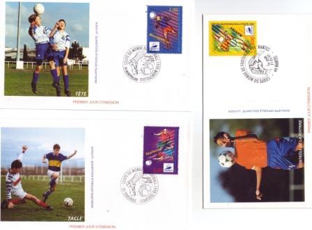 Enveloppes 1er jour France 98 Montpellier-Toulouse-Nantes