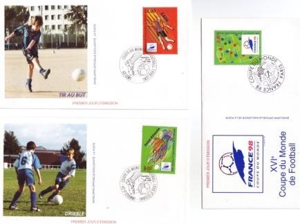 Enveloppes 1er jour Lens-St Etienne-Stade