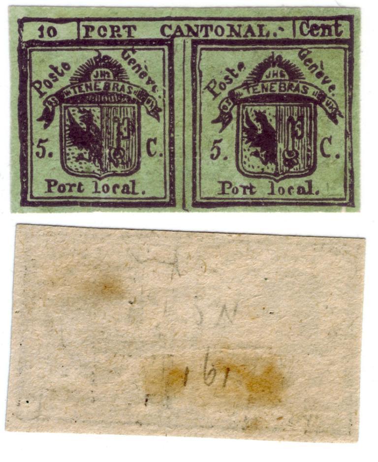 Suisse numéro 1 de 1843